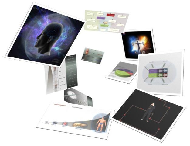 Diverses diapositives de la conférence